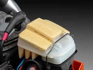 Motosierra a gasolina Husqvarna 460 Rancher - Cierre rápido del filtro de aire
