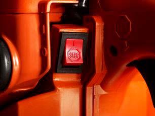 Motosierra a gasolina Husqvarna 543 XP - Interruptor de parada con autoretorno
