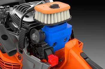 Motosierra a gasolina Husqvarna 550 XP Mark II - Cierre rápido del filtro de aire