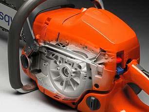 Motosierra a gasolina Husqvarna 560 XP - Cárter de magnesio