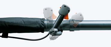Soplador a gasolina Husqvarna 350BT - Mandos ergonómicos