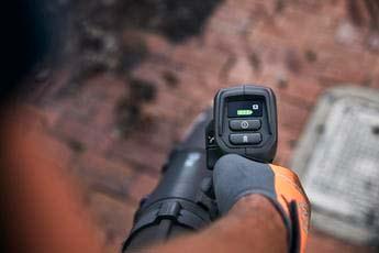 Soplador de mochila Husqvarna 550iBTX - Teclado intuitivo