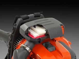 Soplador a gasolina Husqvarna 580BTS - Eficaz filtrado de aire
